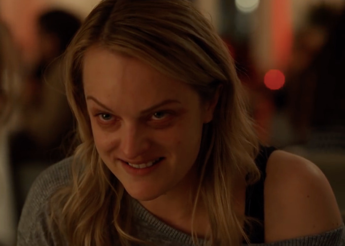 Elisabeth Moss Making A Goofy Sinister Face
