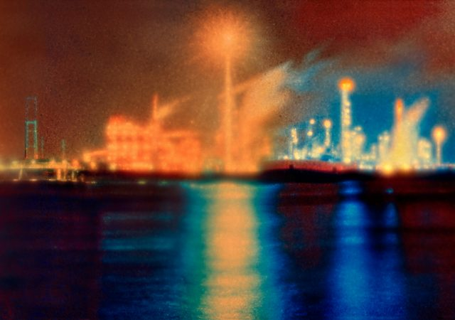 Photograph of oil refineries along Mississippi River by AnnieLaurie Erickson